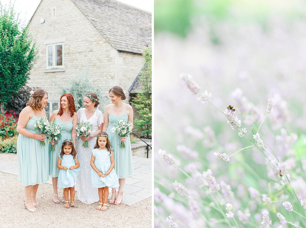 boho wedding hyde house cotswolds