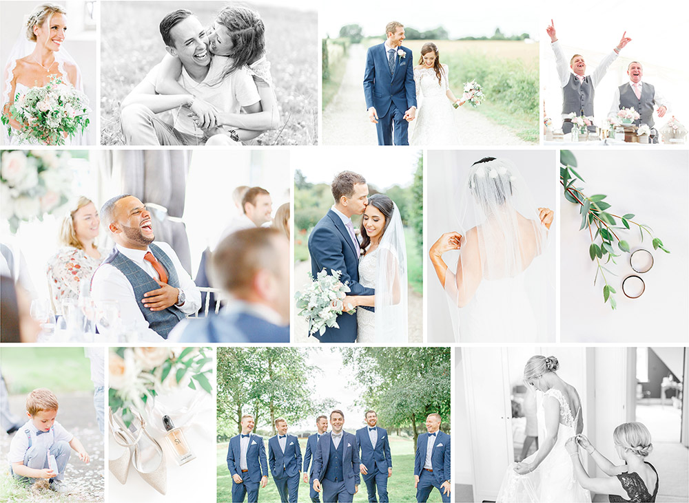 light and airy wedding photography kent