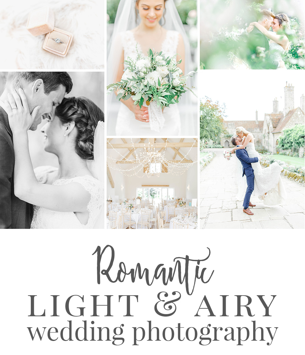 romantic timeless light and airy wedding photography kent uk