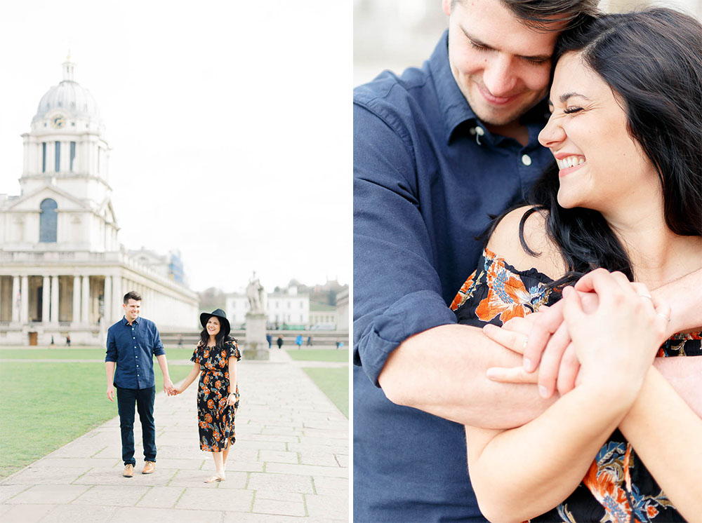 Light and airy fine art london couple photography