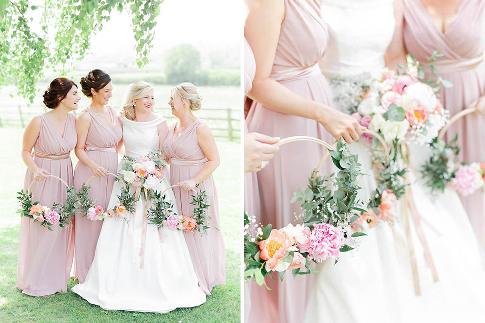 cotswolds pastel peony bridesmaids wedding inspiration